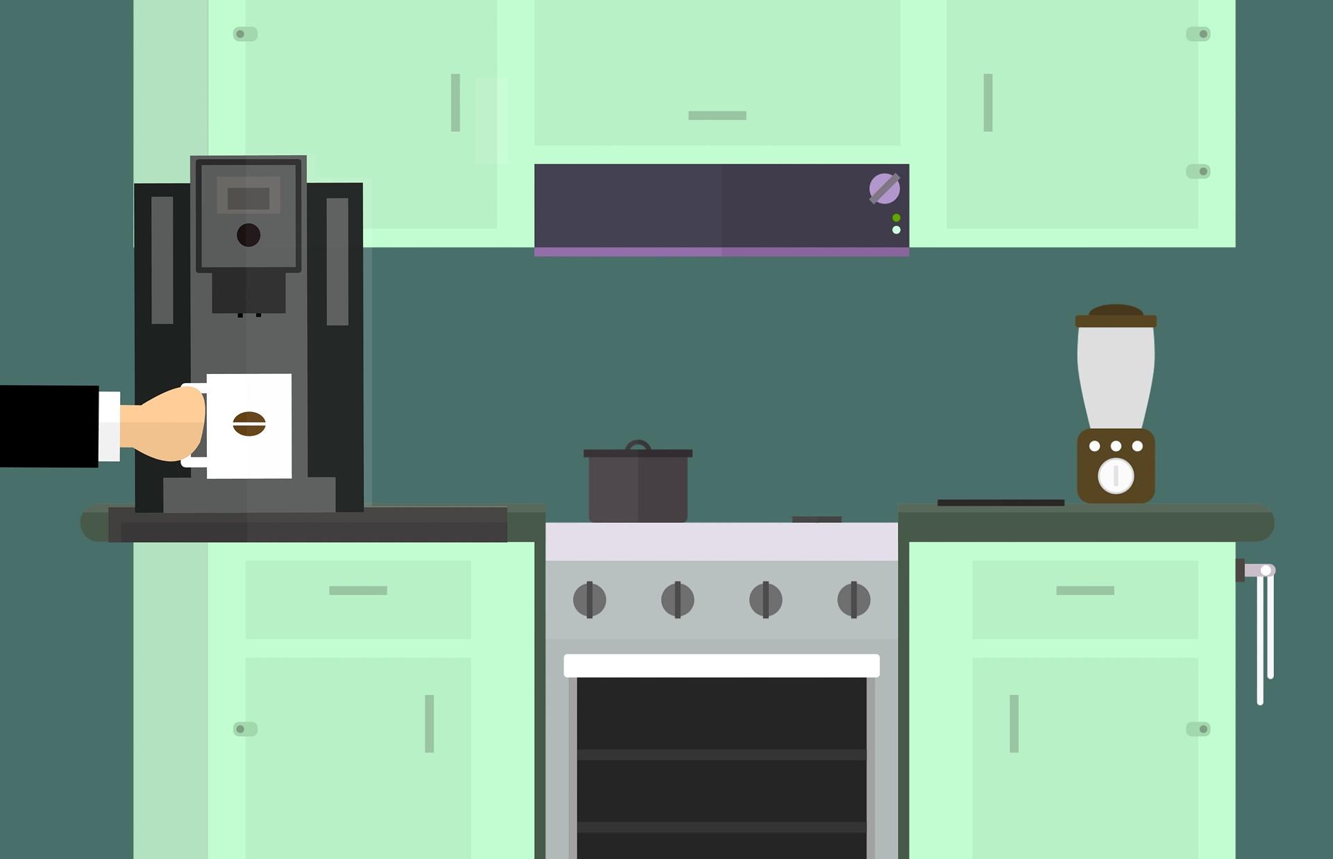 Grafik Küche Kaffee